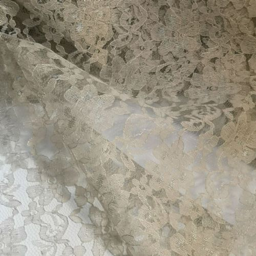 Grey Lace Fabric 54""